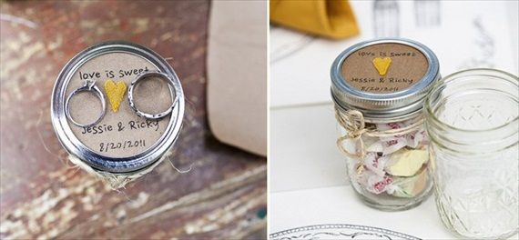Mason Jar Ideas Taffy Favors Photo By Lace Hanky Photography Via Boho