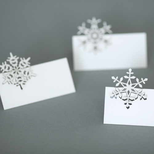 Place Cards Christmas Place Cards Cards Snowflake Cards