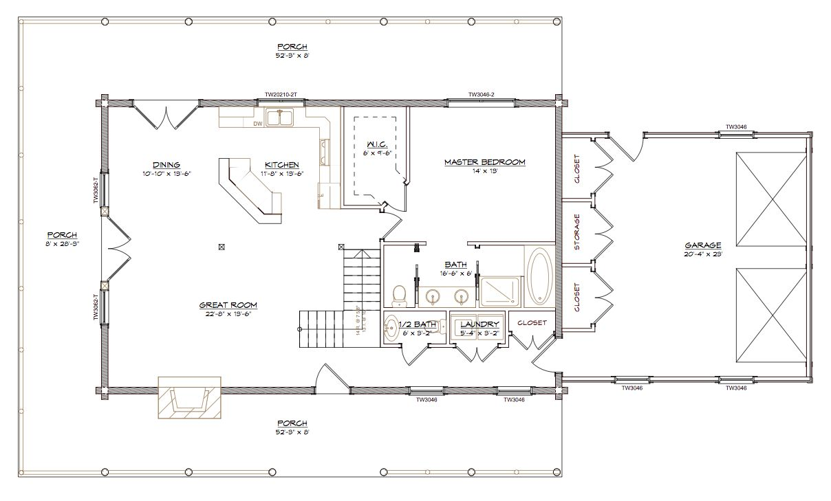 Houseplans with 2 master bedrooms  The Mountain View Log Home The Mountain View log home is an