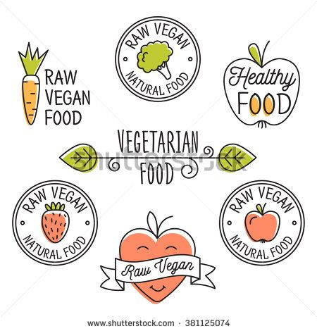 Raw Vegan Organic Food Labels And Elements Set For Food Drink Restaurants Organic Products Raw Vegan Foo Organic Recipes Organic Food Labels Organic Labels