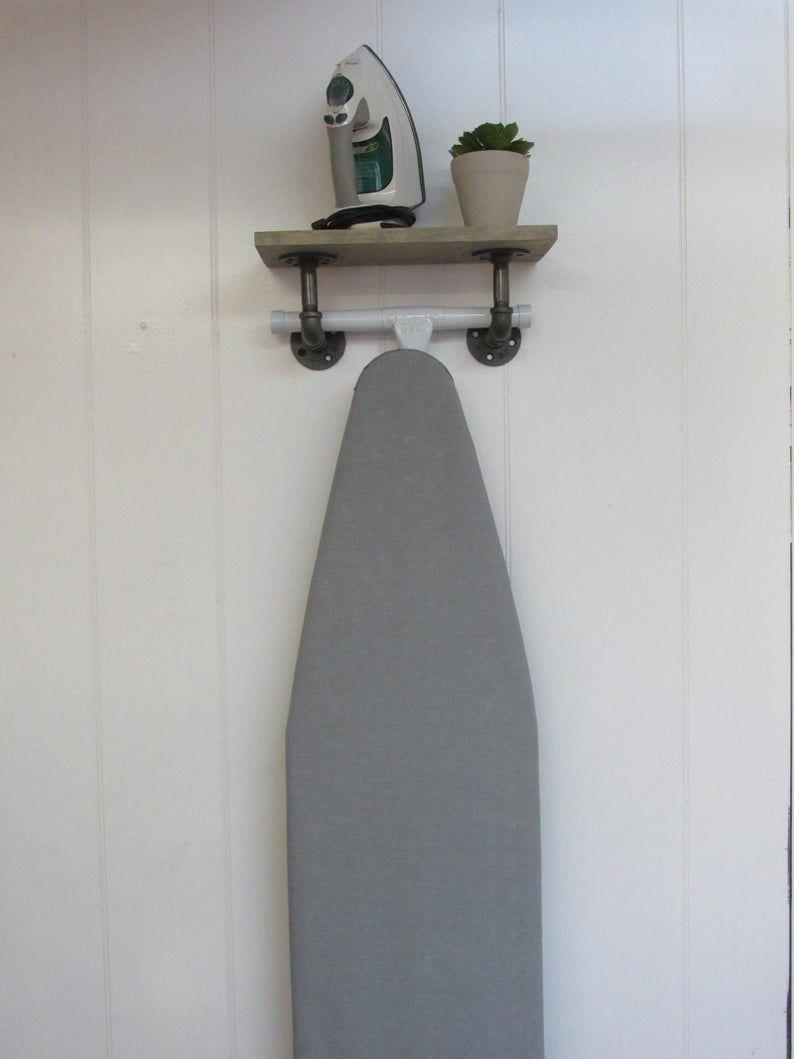 Ironing Board Hanger Ironing Board Storage Ironing Board Etsy In 2020 Ironing Board Storage Laundry Room Diy Laundry Room Decor