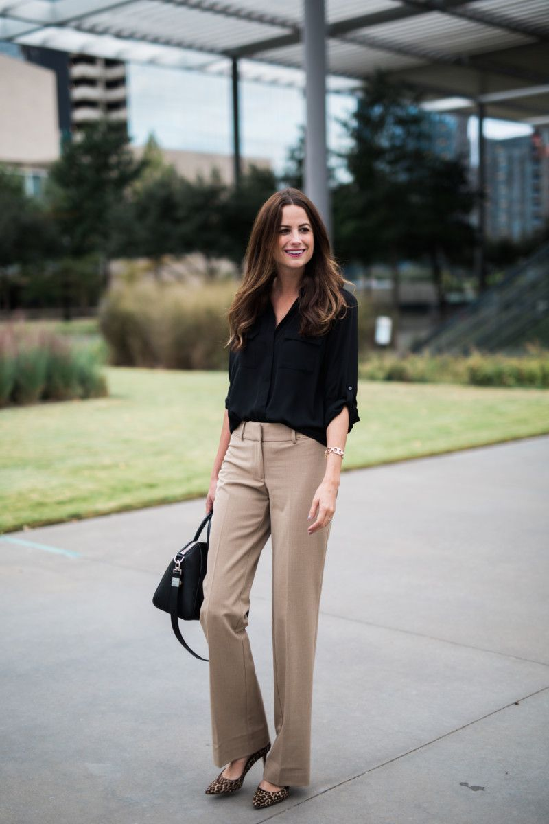 The Miller Affect wearing khaki pants for work wear | Work outfits women,  Summer work outfits, Khaki pants outfit