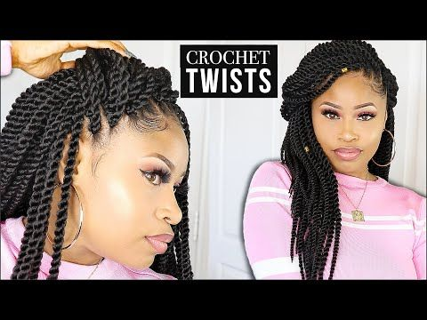 Quick & Easy ➟ CROCHET SENEGALESE TWISTS (no leave-out!) - YouTube #crochetsenegalesetwist