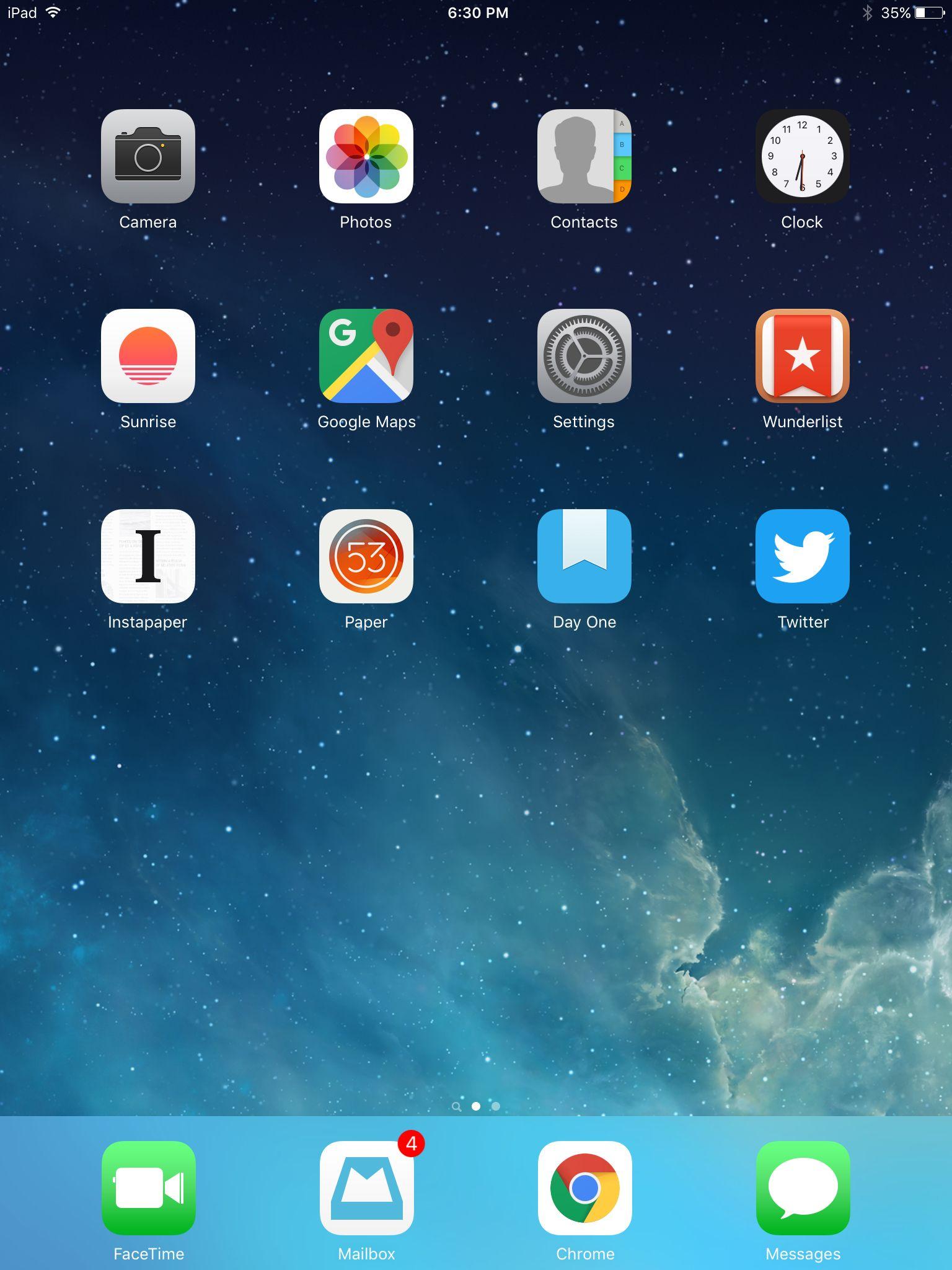 iPad October 2015 Homescreen, Ipad, Iphone