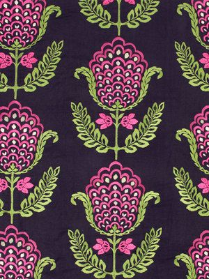 Modern Navy Blue Mint Green Floral Upholstery Fabric Embroidered