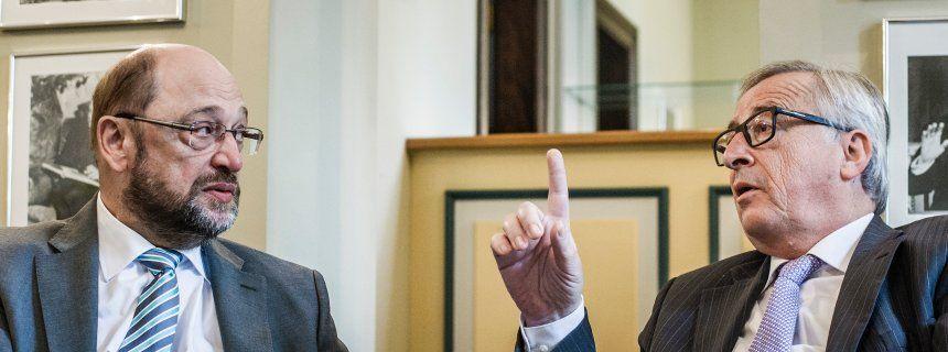 European Parliament President Martin Schulz and European Commission President Jean-Claude Juncker (Interview for Spiegel, 8 Jul 2016)