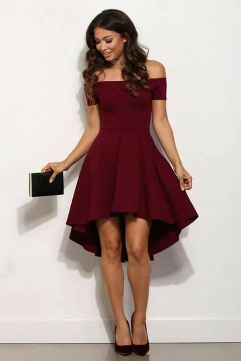 Modelos de vestidos para graduacion color vino