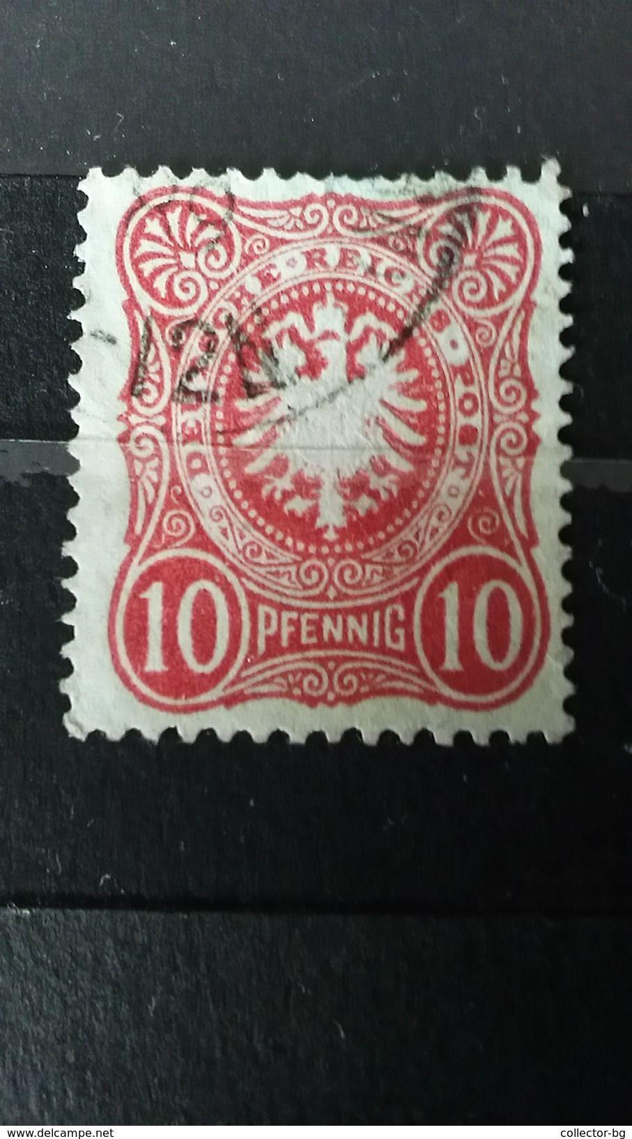 RARE 10 PFENNIG DEUTSCHE REICH GERMANY EMPIRE 1889 MINT NO