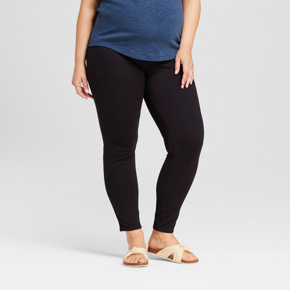 14796e5695c7c These ultra-soft under-the-belly maternity ponte pants fit like jeans or  dress pants but feel like a soft and easy legging.