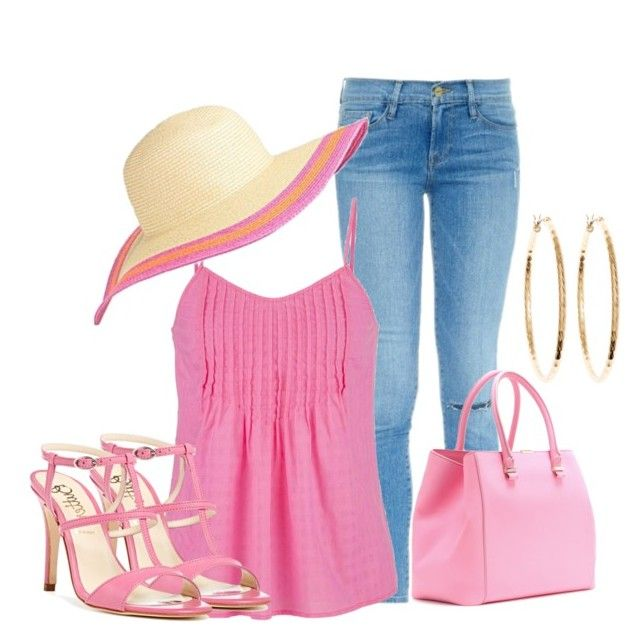 """Pink Day"" by lchar ❤ liked on Polyvore"