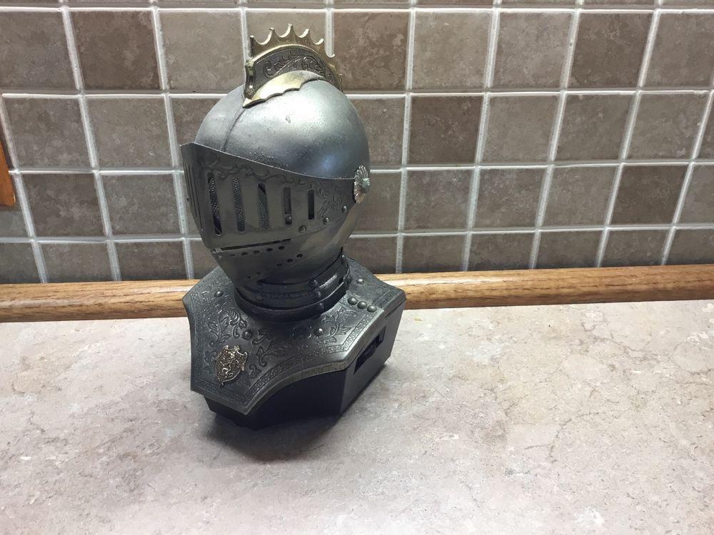 Vintage Knights Head Armor Am Transistor Radio Works Knight Helmet Radio Transistor Radio Knights Helmet Armor