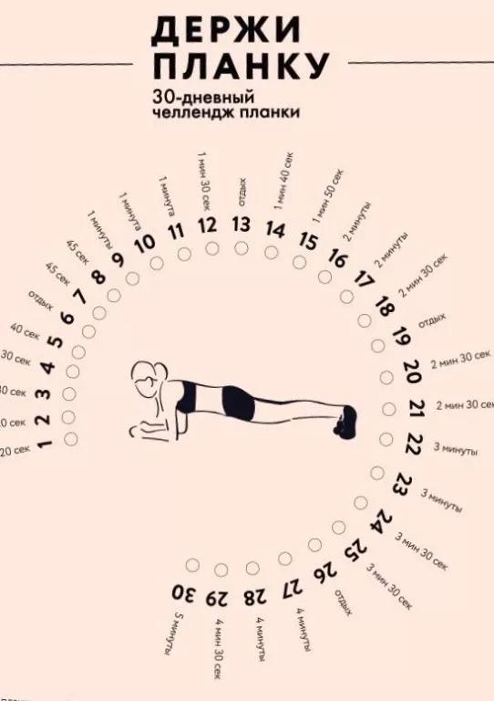Челлендж упражнения для похудения