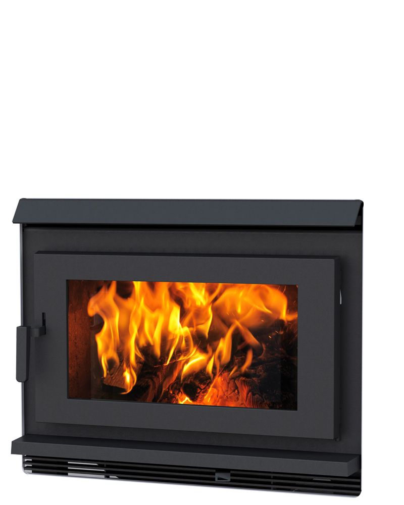 Pacific Energy Fp30 Wall Mounted Fireplace Wood Heat Iron Doors