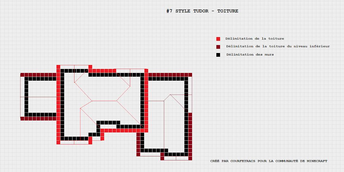 Connu Plan d'une maison style Tudor | Minecraft-Constructor | minecraft  DV36