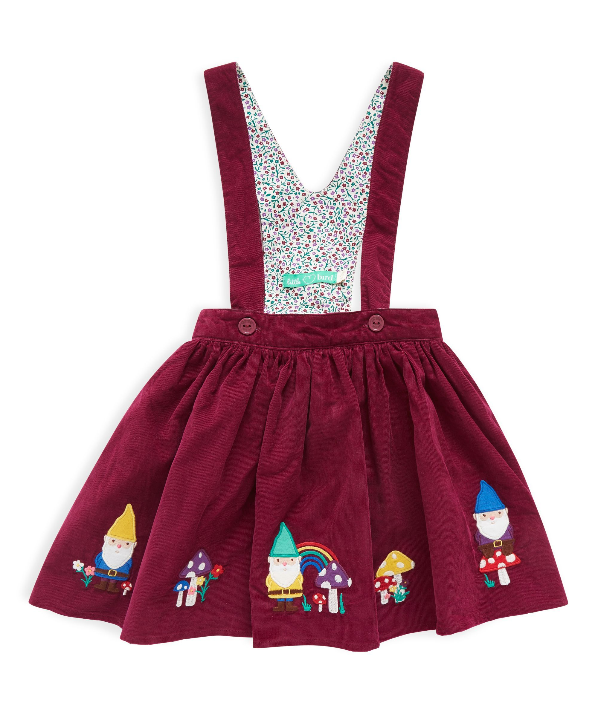 c7b09fee21 I'd love to make something like this for my girls. Little Bird by Jools  Purple Cord Toadstool Trim Skirt