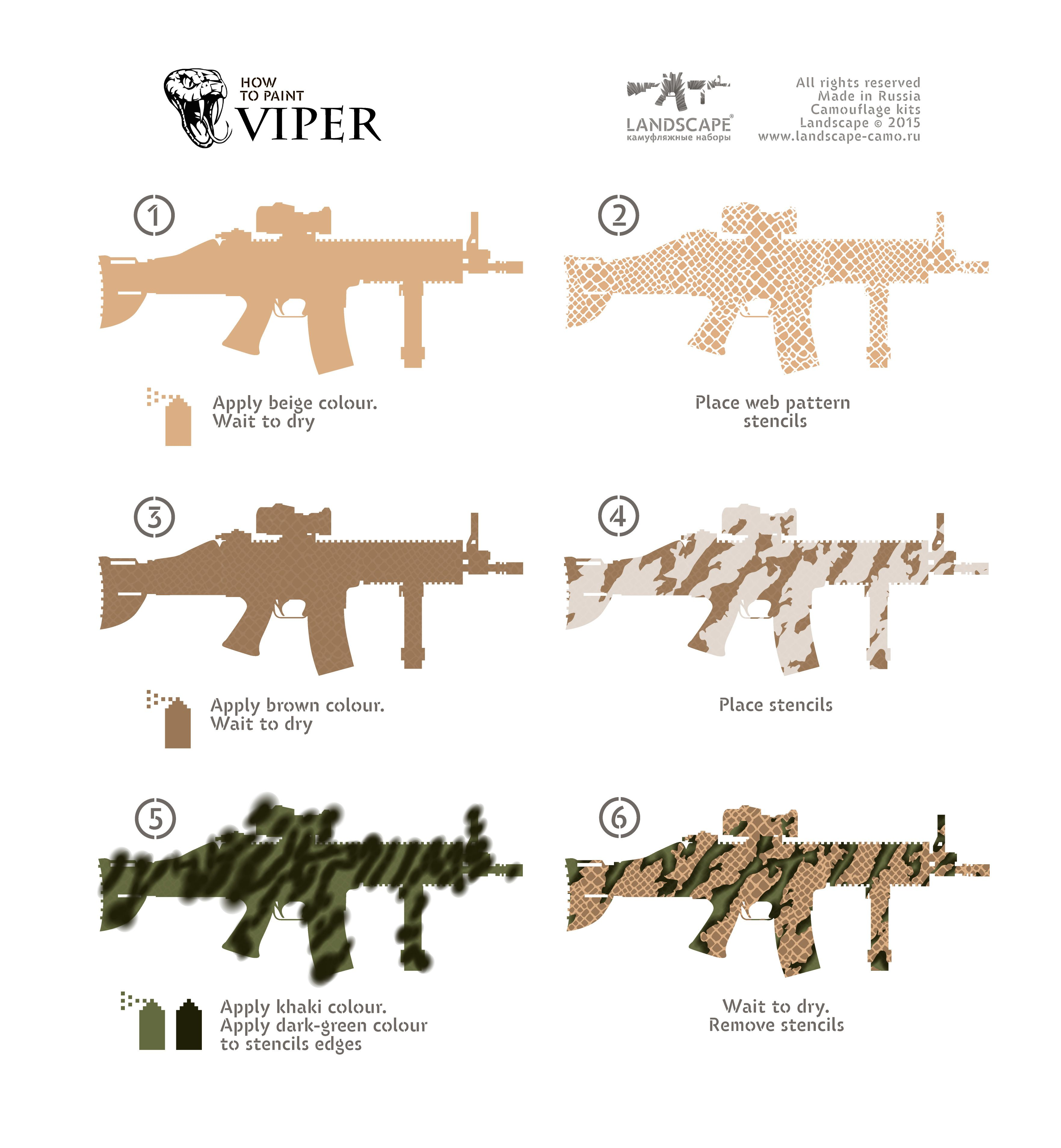 dd9b23400bdf7 How to paint Viper Camo Stencil, Fn Scar, Camouflage Patterns, Battle Rifle,