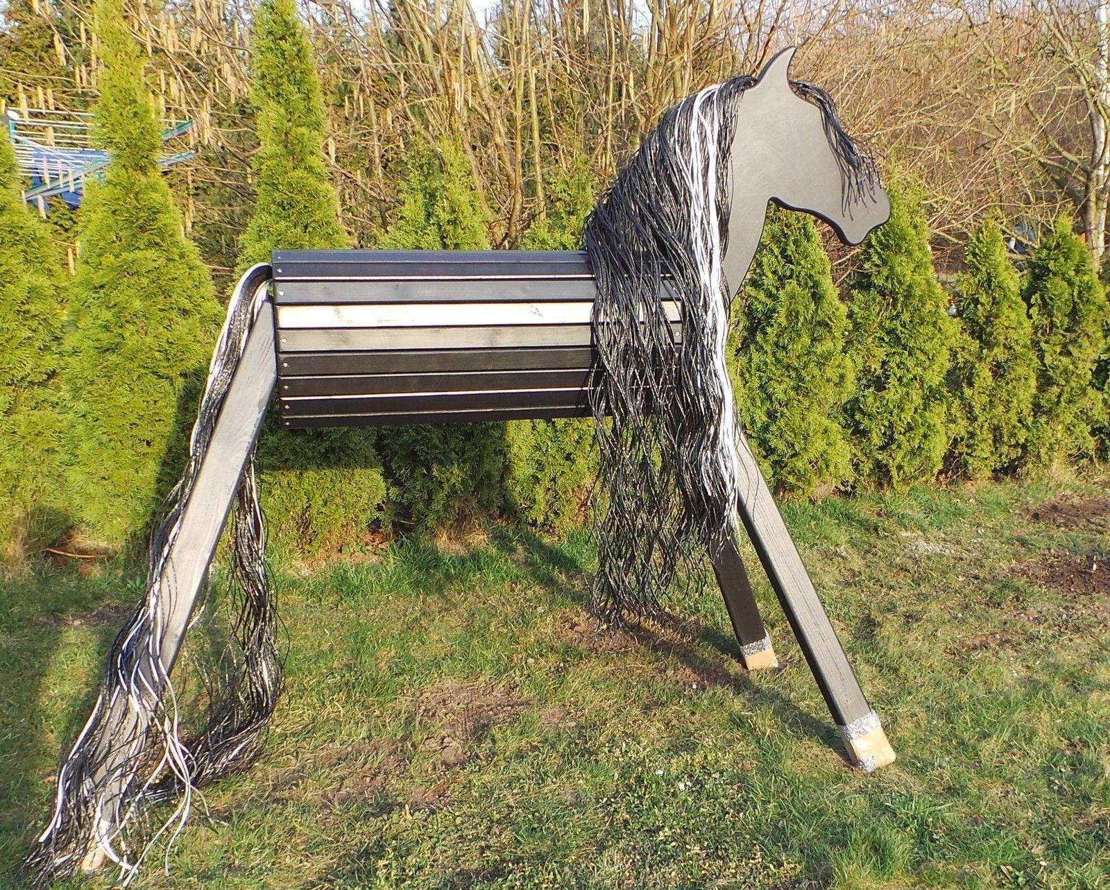 holzpferd holzpony voltigierpferd rappe pferd pony schwarz black