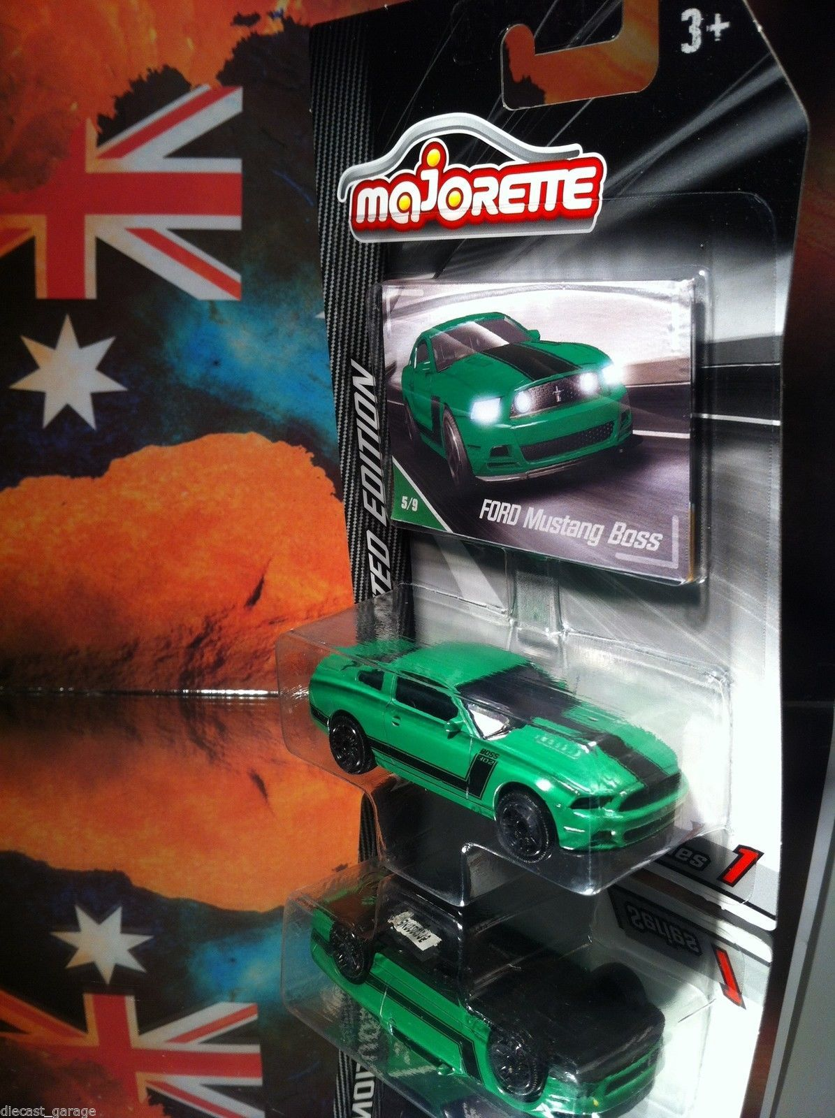 Ford mustang boss majorette muscle car drift race green drag v8 ebay www