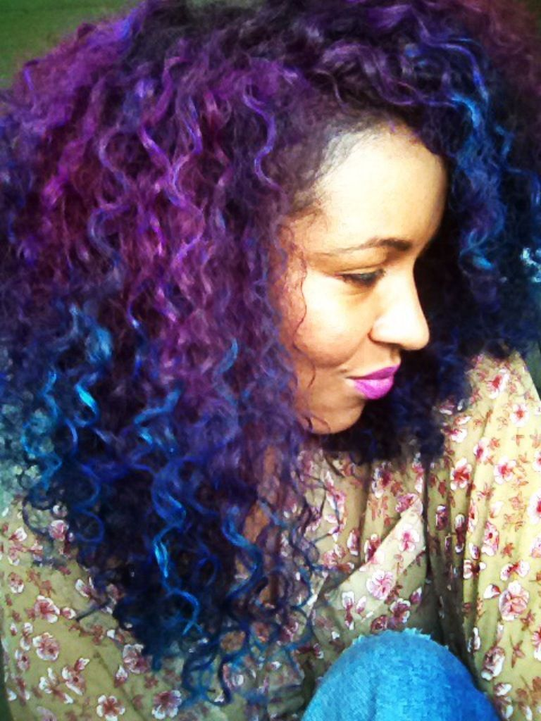 Splat Washables Two Tone Color Purple and Blue I Rock