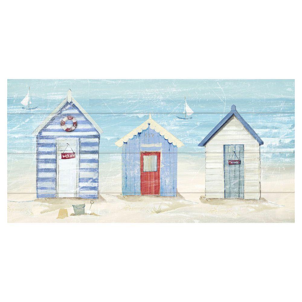 Arthouse Urban Beach Huts Canvas Print 30x60cm Masters Home