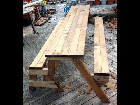 Surprising Diy Convertible Picnic Table That Folds Into Bench Seats Gmtry Best Dining Table And Chair Ideas Images Gmtryco