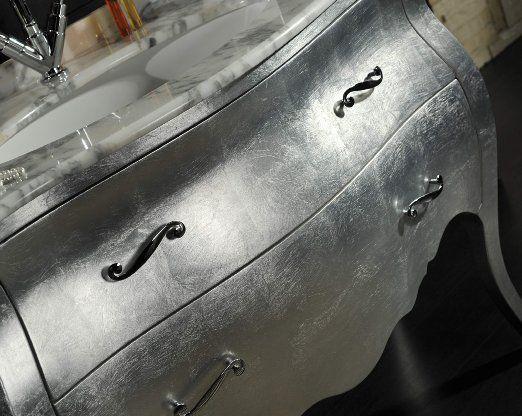 Bagno Barocco ~ Mobile bagno barocco modello lipari foglia argento amazon