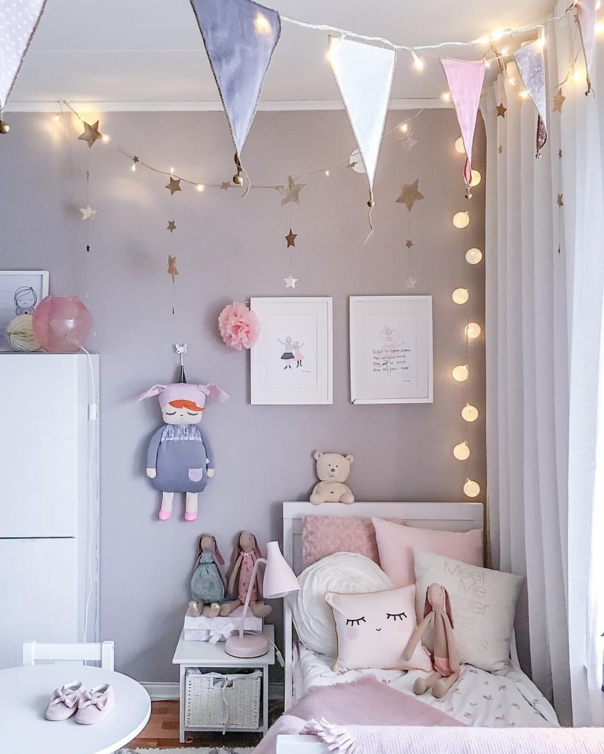 Pin de lisa en pinterest habitaciones ni a for Cuartos de ninas con luces