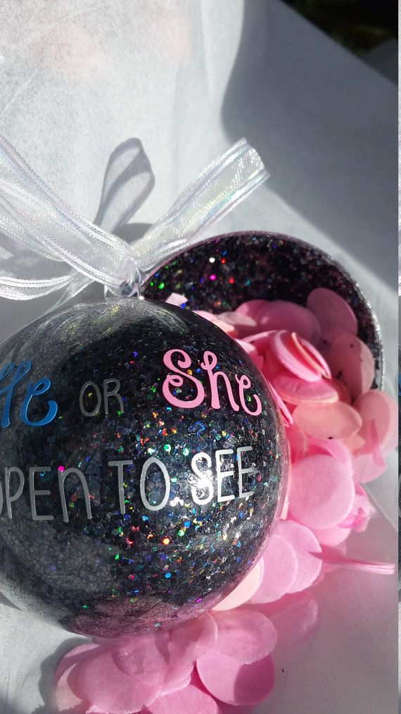 Gender Reveal Ornament Gender Reveal Ideas By Sarahsvinylshop Christmas Gender Reveal Gender Reveal Gifts Reveal Ideas