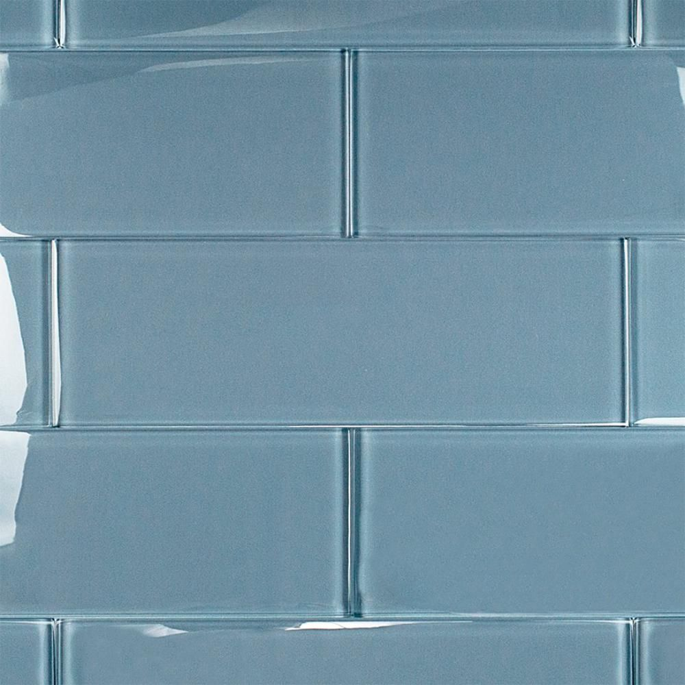 Splashback Tile Contempo Blue Gray Polished 4 in. x 12 in. x 8 mm ...