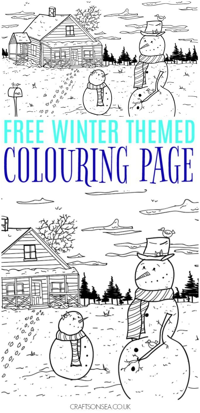 Free Winter Colouring Page