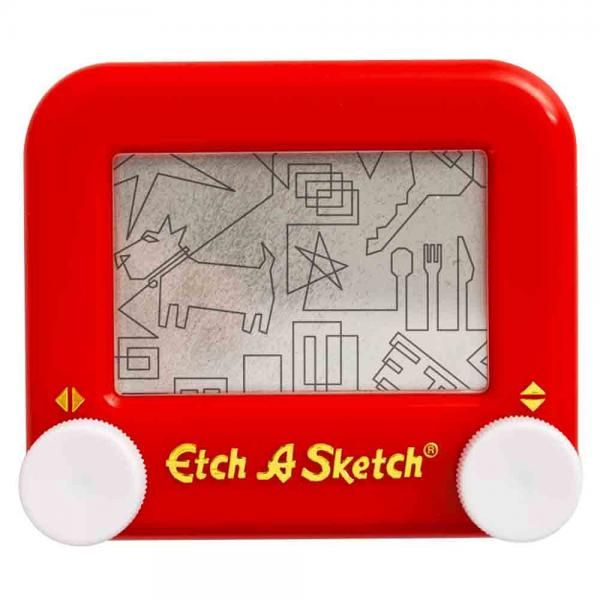 It's magic! Draw with the knobs, then shake to erase. Pocket size fun designed for long lasting performance.  Dimensions: 1.5 x 5.5 x 6.8 inches 4.2 ounces   Ages: 4 & Up