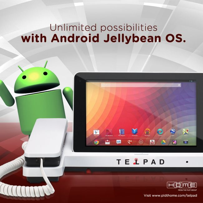 500,000 different apps to choose from! Enjoy unlimited possibilities with the #AllNewTelpad on Android Jelly Bean OS!