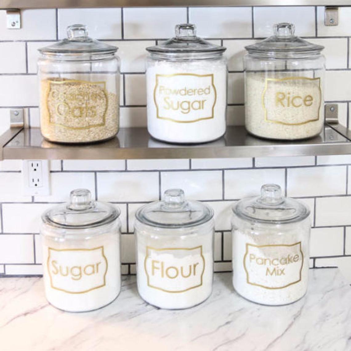 Jar Labels Custom Kitchen Spice Vinyl Decals