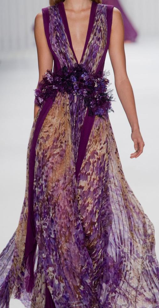 J Mendel Spring 2013 - flowing purple gown