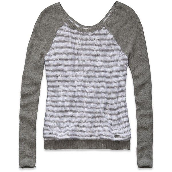 Hollister Co Dixon Lake Shine Sweater ($45) ❤ liked on Polyvore featuring tops, sweaters, hollister, shiny tops, wet look top, textured sweater, hollister co. and hollister co. sweaters