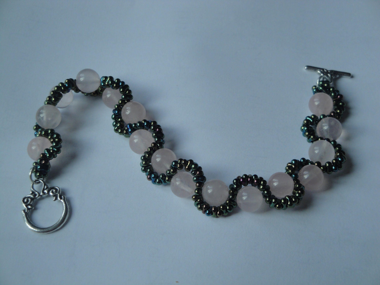 Schmuck selber machen - Ein geschlängeltes Armband fädeln | Diamonds ...
