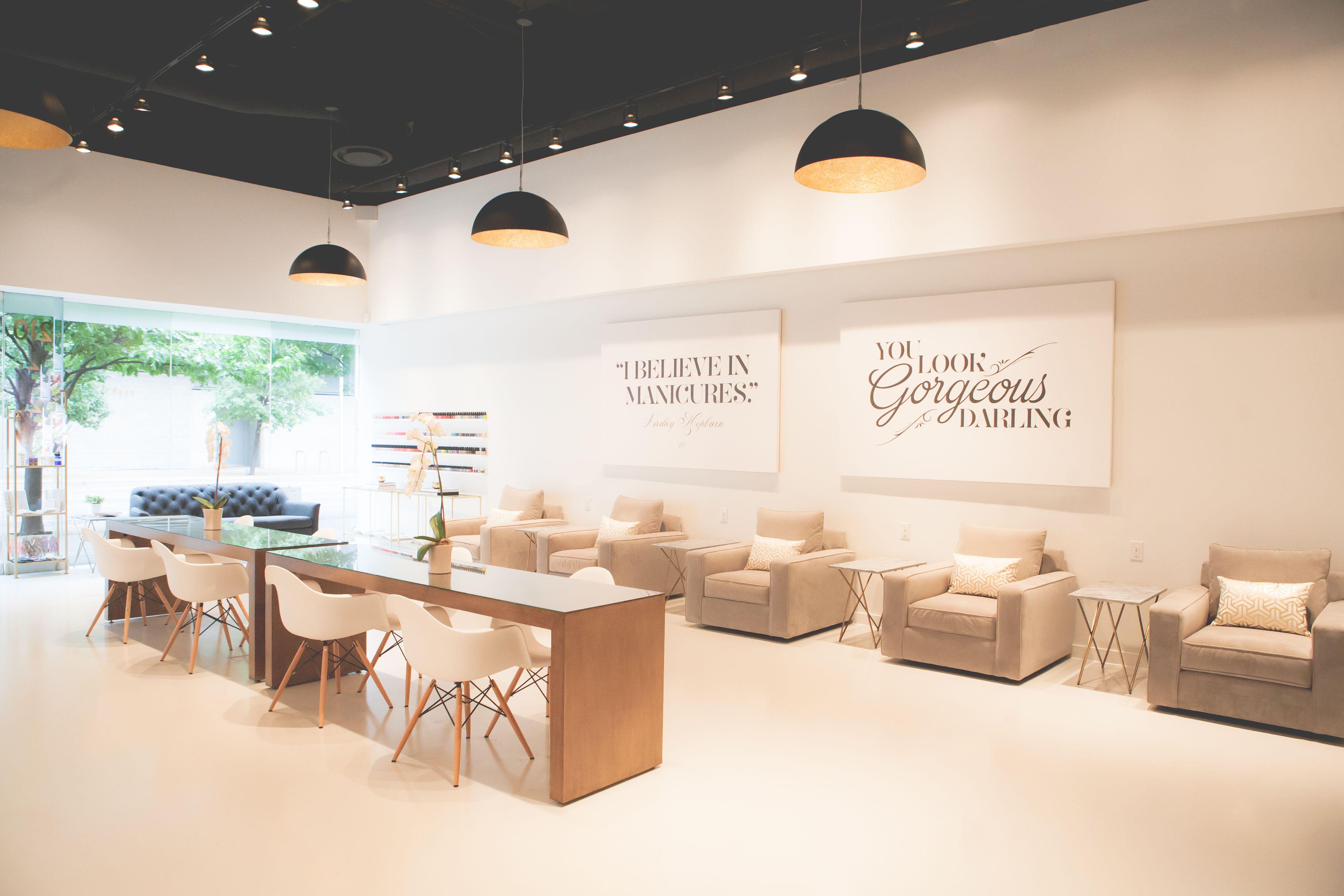Step into austin s lacquer nail salon a sleek modern for Salon blueprint maker