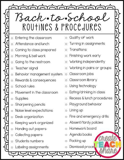 Back-to-School Routines & Procedures | Back to School
