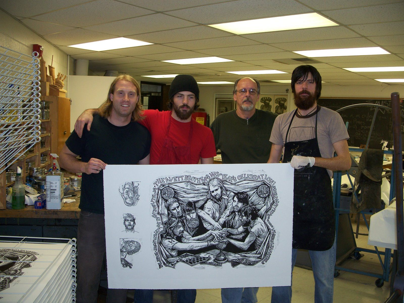 Color printing ecu - Scott Avett Print