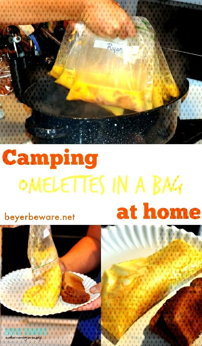 Whether you are camping or have a group to bring breakfast home - this omelet ... - camping -  Whet