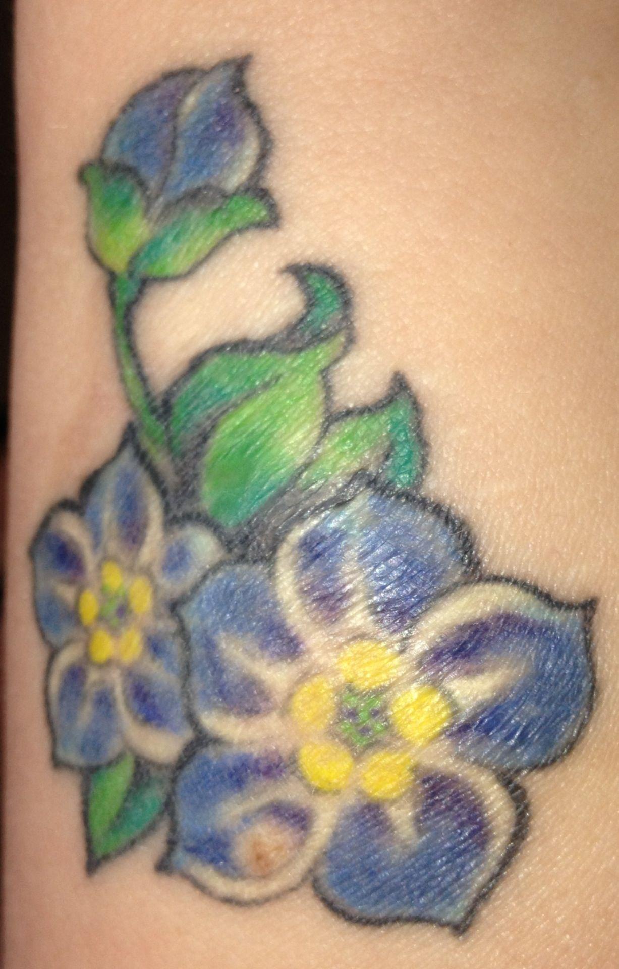 Bad Flower Tattoo : flower, tattoo, Forget-me-not, Flower, Tattoo, Tattoo,, Shoulder,