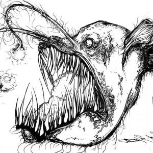 It is a photo of Inventive Angler Fish Coloring Page