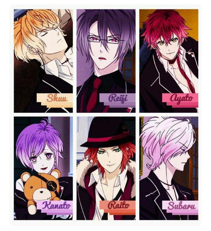 Diabolik Lovers| The Sakamaki Brothers: Shu, Reiji, Ayato