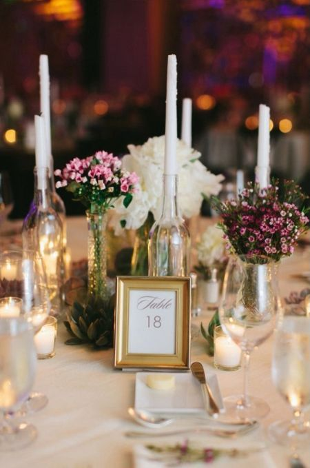 Empty Wine Bottles Make Beautiful Diy Candle Wedding Favors See More Favor Ideas