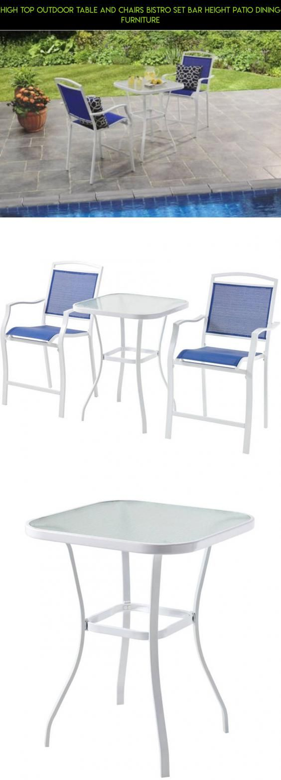 High Top Outdoor Table And Chairs Bistro Set Bar Height Patio Dining – Bar Height Patio Table Plans