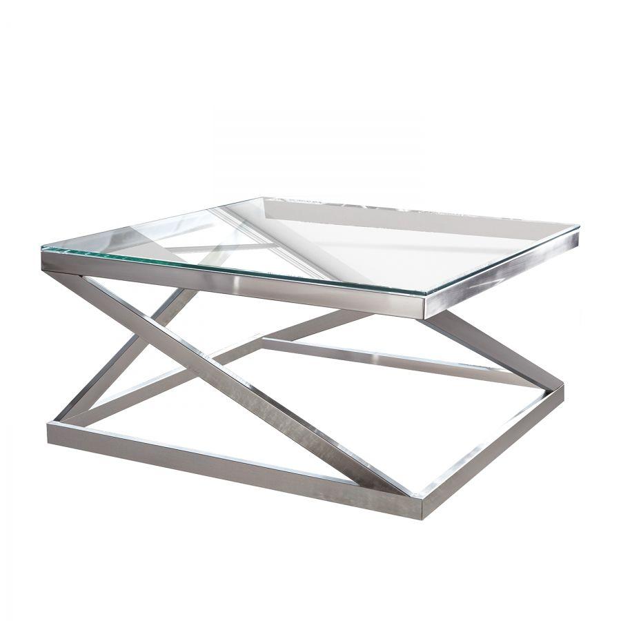 Couchtisch Sawl Metall Glas Silber In 2019 Couchtisch Quadratisch Couchtisch Metall Und Couchtisch