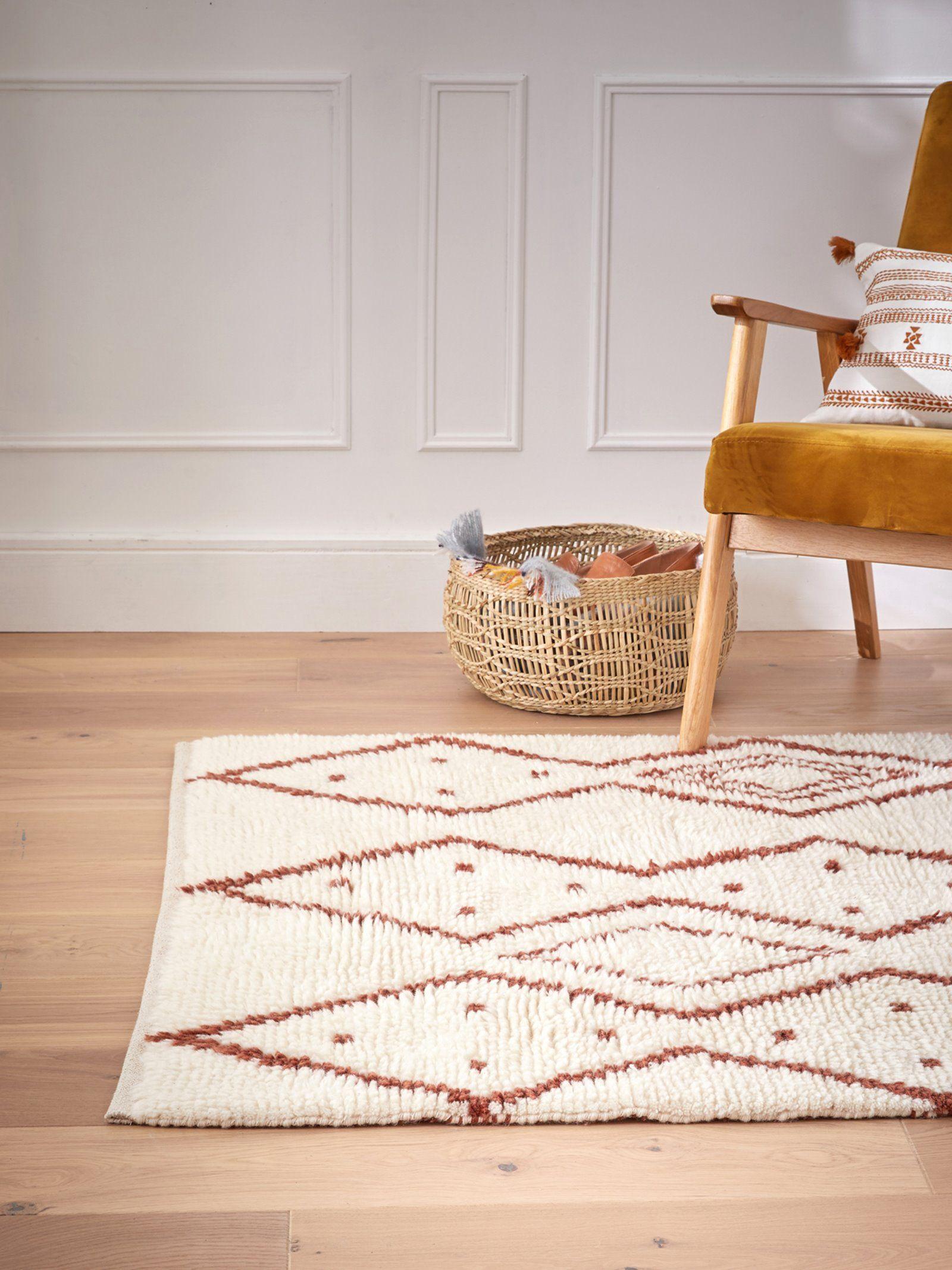 Tapis Salon Couleur Rouille tapis berbère en laine - beige/rouille, maison - vetement et
