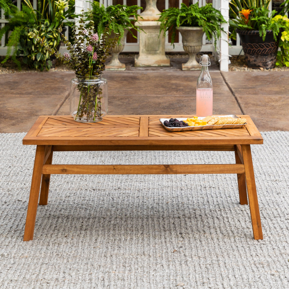 Manor Park Wood Outdoor Coffee Table With Chevron Design Brown Walmart Com Coffee Table Wood Wood Coffee Table Design Outdoor Coffee Tables [ 1000 x 1000 Pixel ]