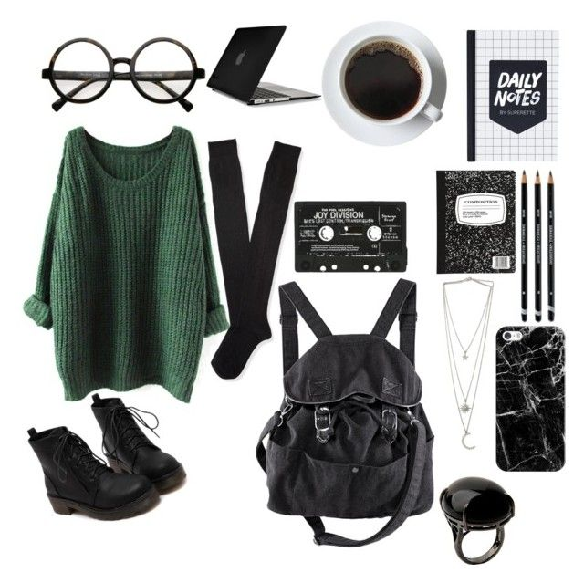 """""""studying @ home"""" by kaitlynmcclary ❤ liked on Polyvore featuring Aéropostale, Retrò, Casetify, H&M, Sharra Pagano and Speck"""