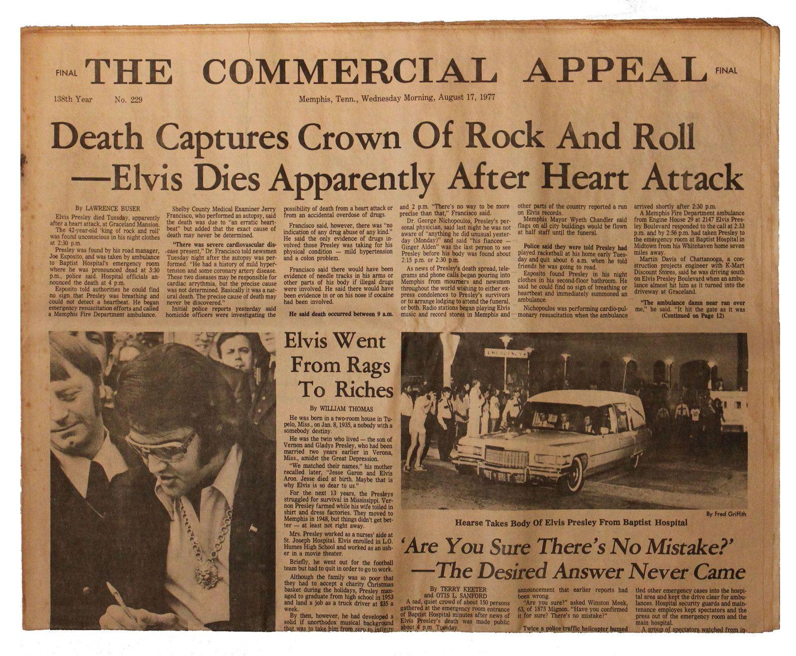 Memphis Commercial Appeal Elvis Presleys Memphis